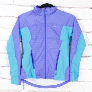 Avalanche Blue Windbreaker Jacket Coat Size M